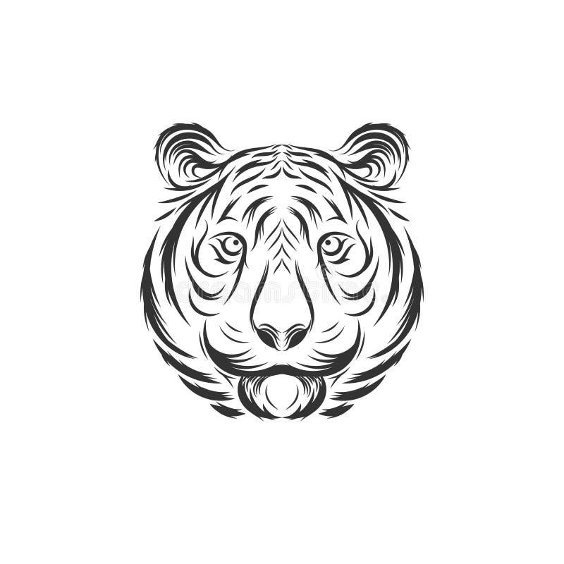 Design för tigerframsidaillustration stock illustrationer