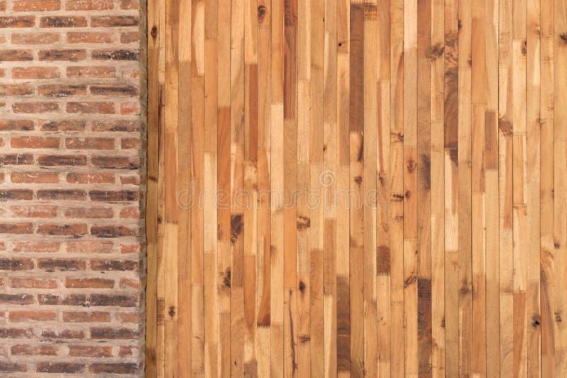 Design för trä- och cementtegelstenvägg av inre royaltyfri bild