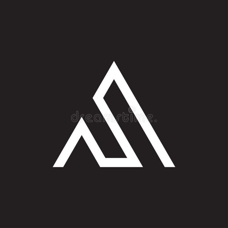 Design för triangelMonoline logo royaltyfria bilder