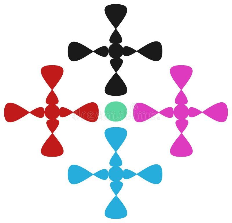 Design för tryck i torkdukar royaltyfri illustrationer