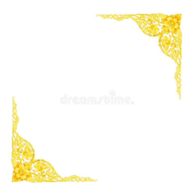 Design för vägg för modell för guld- skulptur för stuckatur dekorativ royaltyfria foton