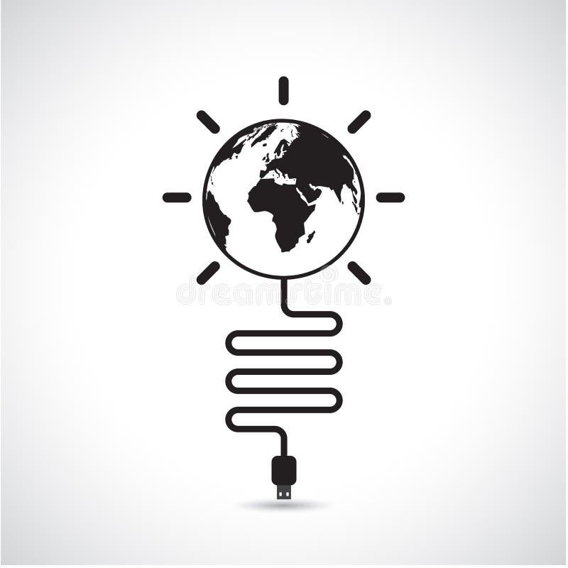 Design för världsanslutningsnätverk, globalt internetbegrepp, nätverk royaltyfri illustrationer