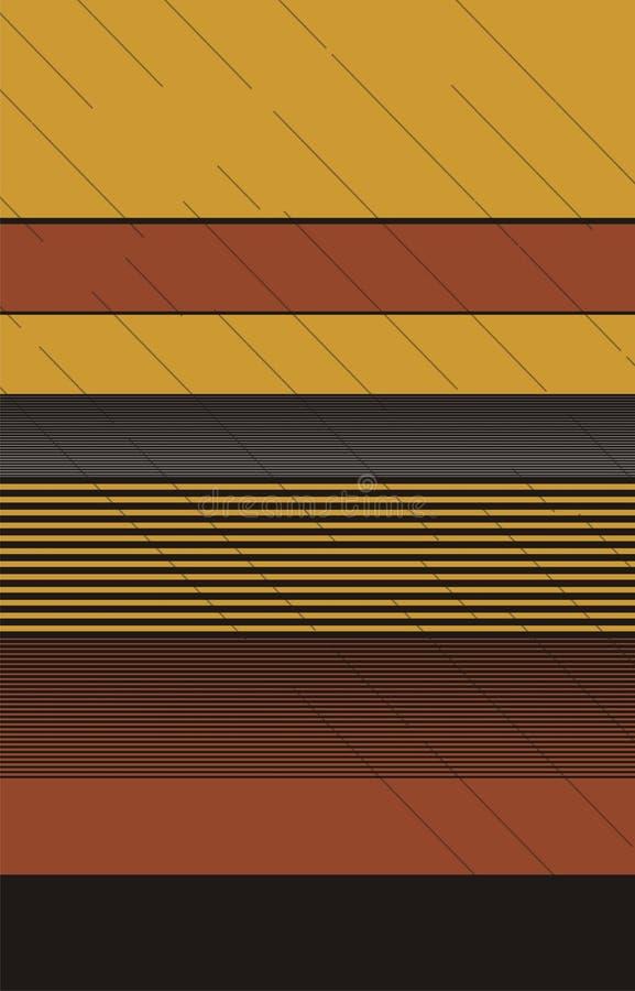 design för vektor för band för ` för 3 färger horrizontal med effekt av den diagonala kaffeavbrottslinjen vektor illustrationer