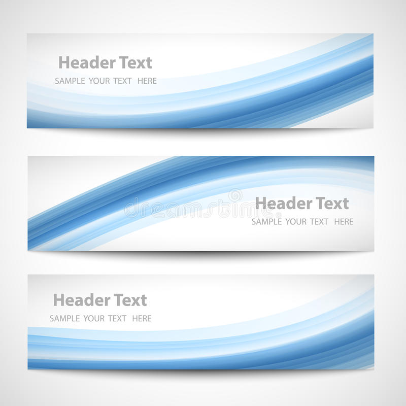 Design för vektor för abstrakt titelradblåttvåg vit royaltyfri illustrationer