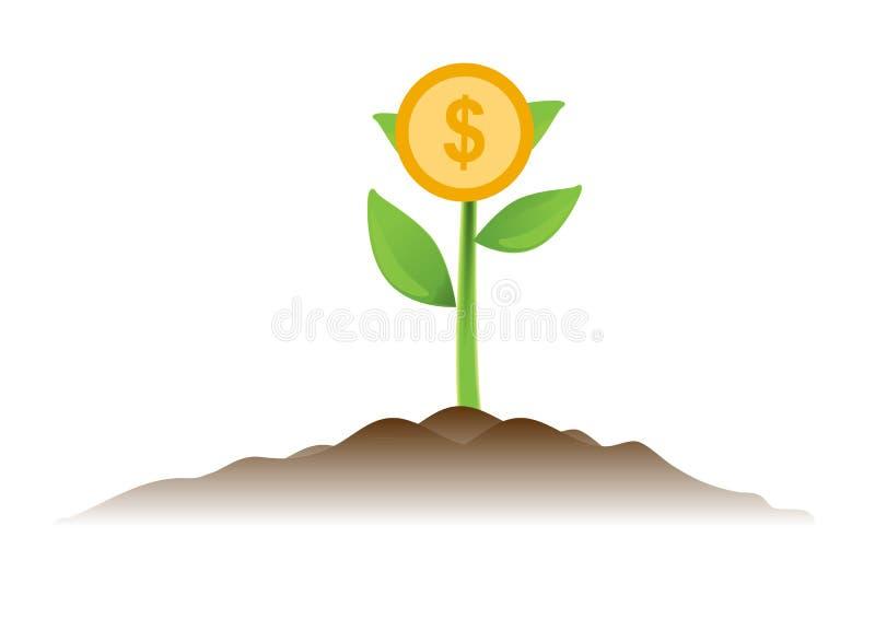 Design för vektor för affärsidé för pengarträdinvestering vektor illustrationer
