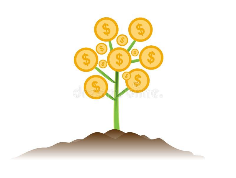 Design för vektor för affärsidé för pengarträdinvestering stock illustrationer