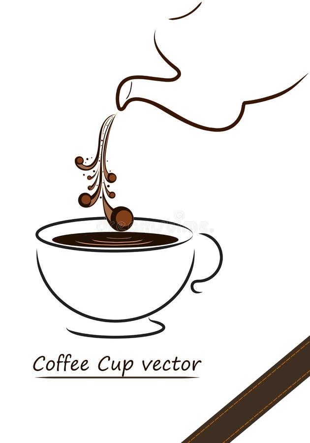 Design för vektor för kaffekopp stock illustrationer