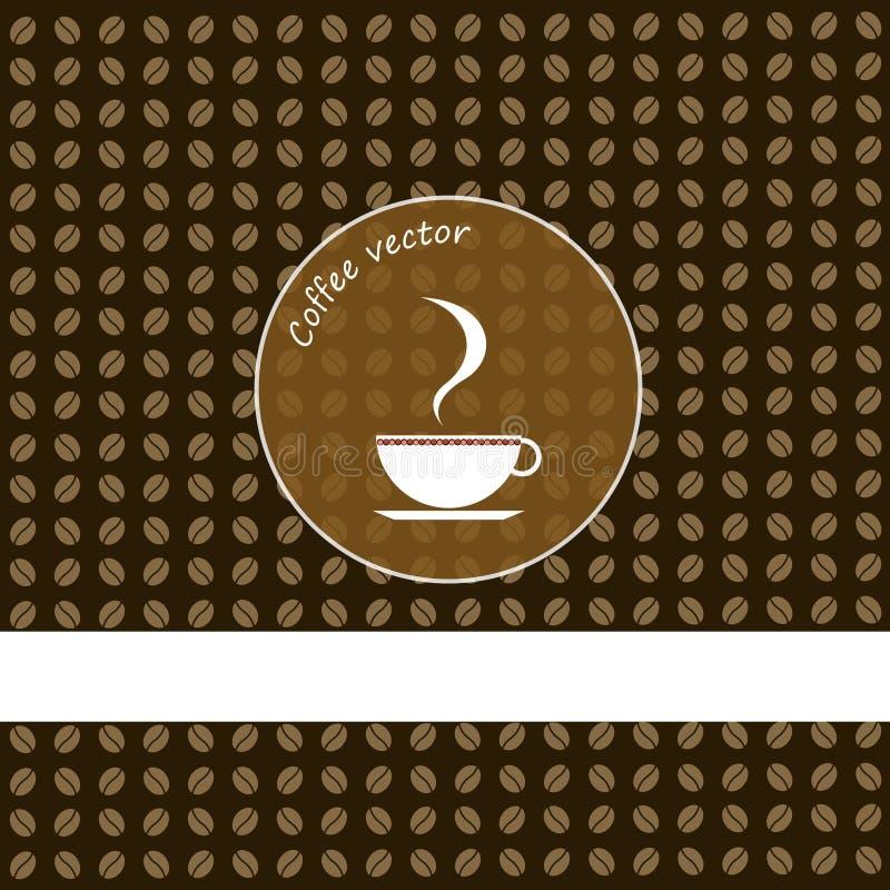Design för vektor för kaffekopp vektor illustrationer
