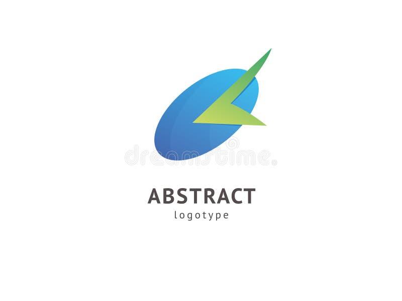 Design för vektor för klockavetorlogo Tecken för affären, tid, internetkommunikationsföretag, digital byrå, marknadsföring modern royaltyfri illustrationer