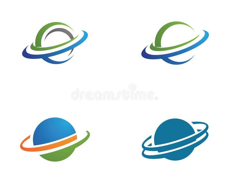 Design för vektor för planetjordklotsymbol royaltyfri illustrationer
