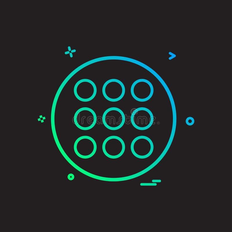 design för vektor för rasterlistasymbol stock illustrationer