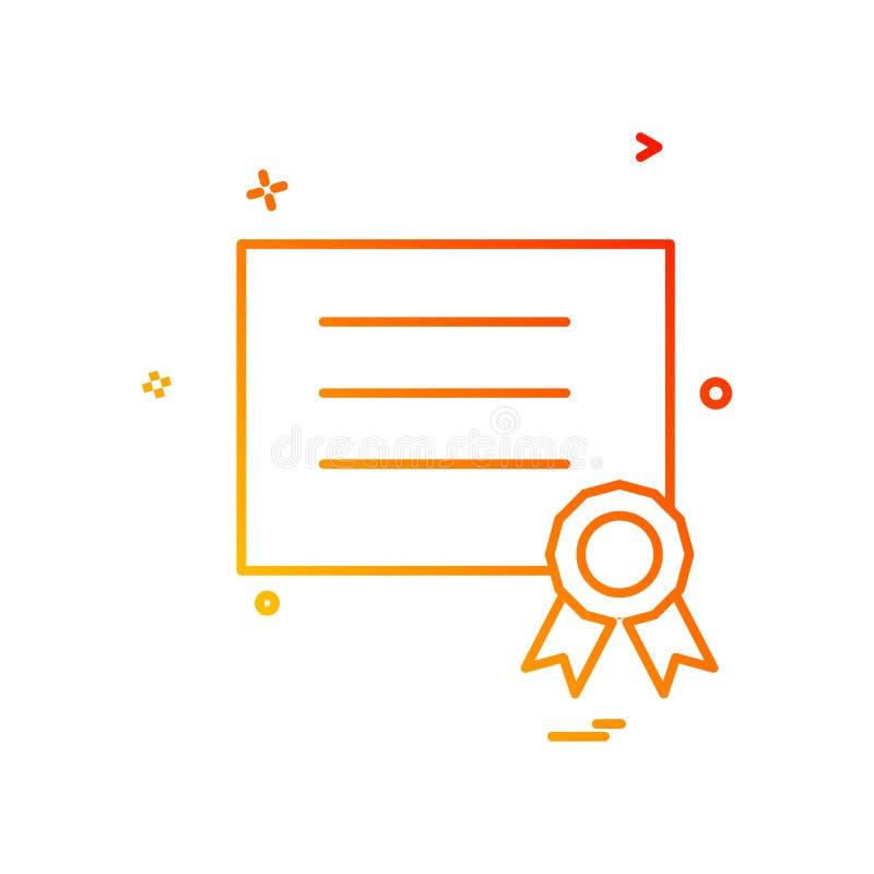 design för vektor för utmärkelsediplomsymbol vektor illustrationer