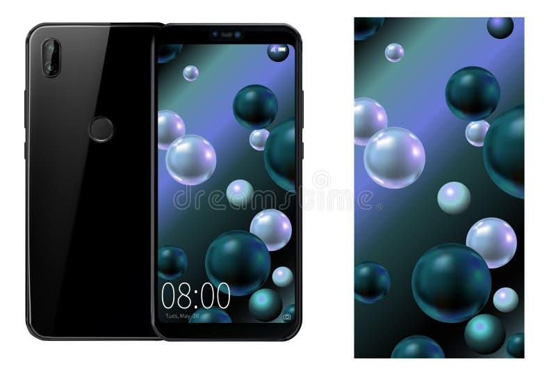 Design för vektorbakgrundsbild för din telefon Illustration för telefonen royaltyfri illustrationer