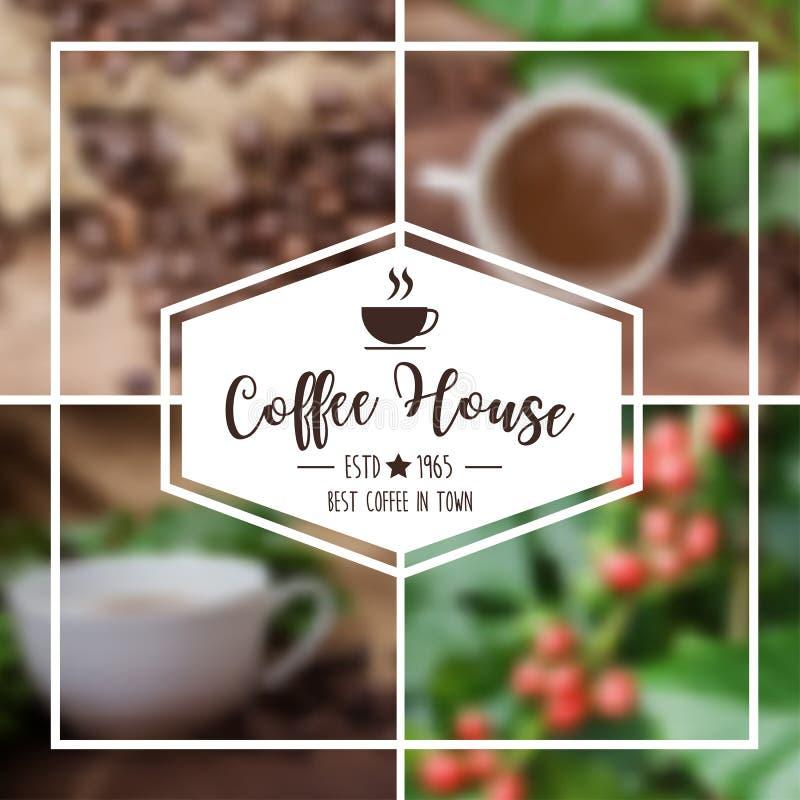 Design för vektorkaffebakgrund vektor illustrationer