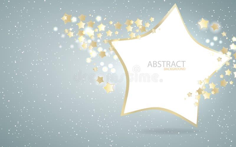 Design för vektorstjärnabakgrund stock illustrationer