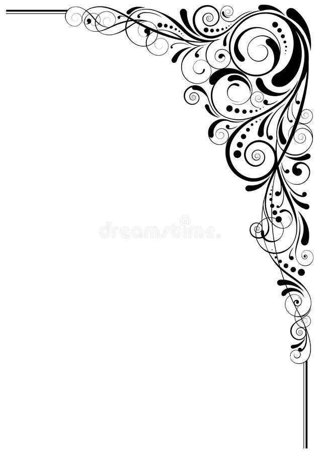 Design för virvelsvartvinkel vektor illustrationer