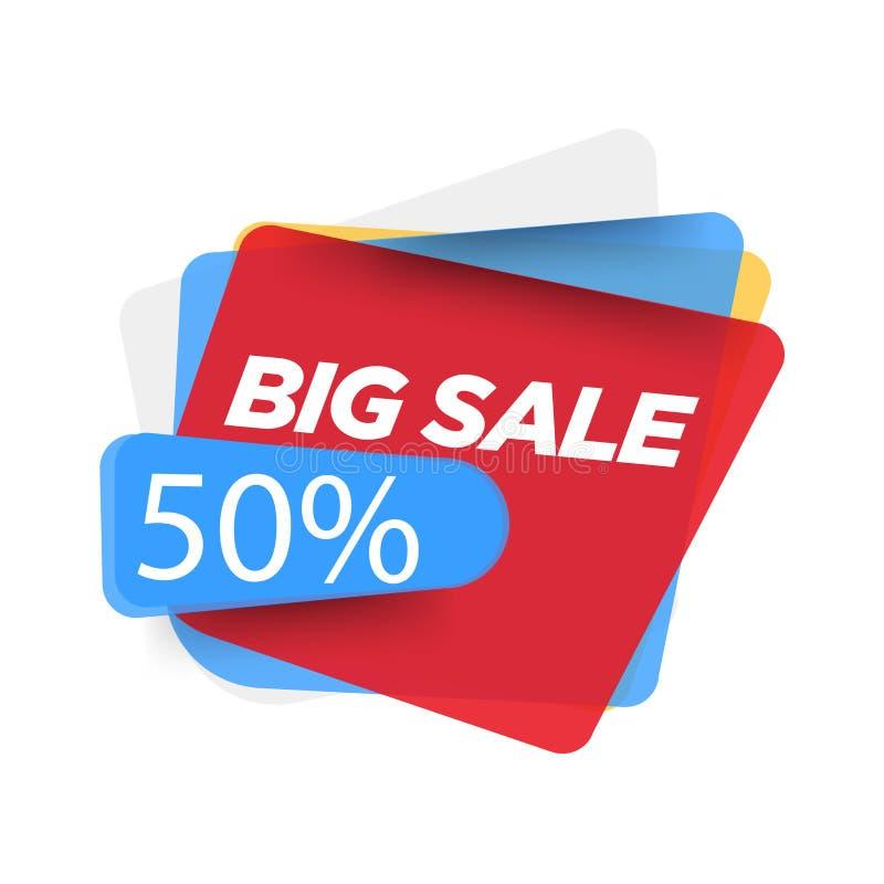 Design f?r Sale banermall Specialt erbjudande f?r stor f?rs?ljning baner 50% abstrakt för specialt erbjudande för affischen, rekl royaltyfri illustrationer
