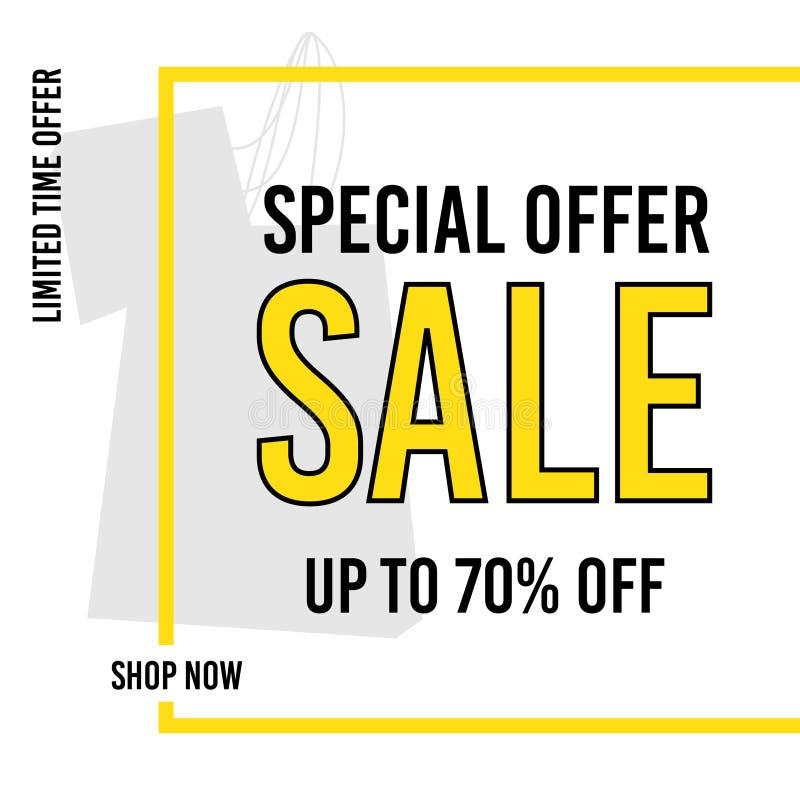 Design f?r Sale banermall Specialt erbjudande upp till 70% av Begr?nsande erbjudande shoppa nu ocks? vektor f?r coreldrawillustra vektor illustrationer