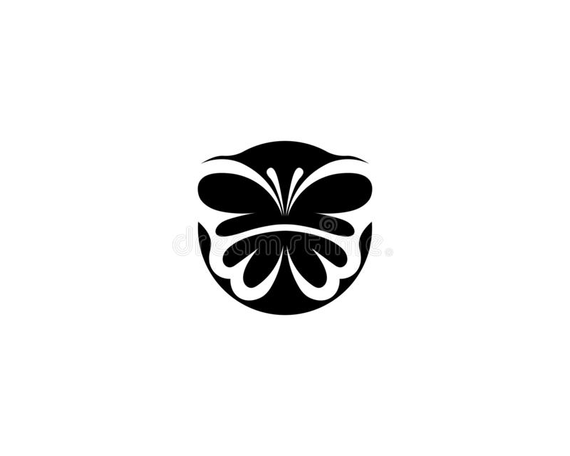Design f?r sk?nhetfj?rilsLogo Template Vector symbol stock illustrationer