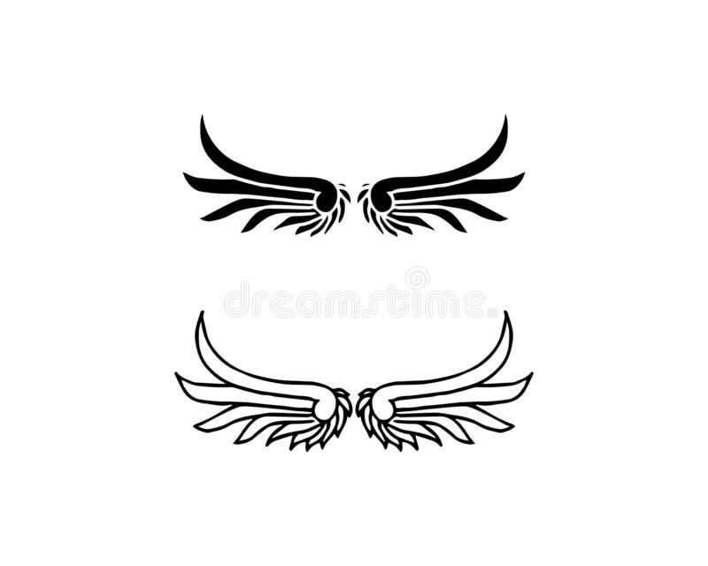 Design f?r symbol f?r falkWing Logo Template vektor stock illustrationer