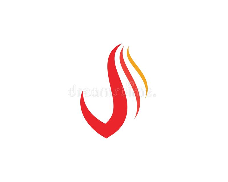 design f?r vektor f?r flammasymbolsbrand vektor illustrationer