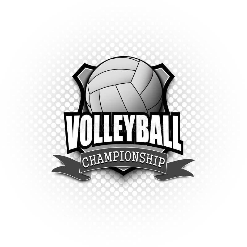 Design f?r volleybolllogomall stock illustrationer