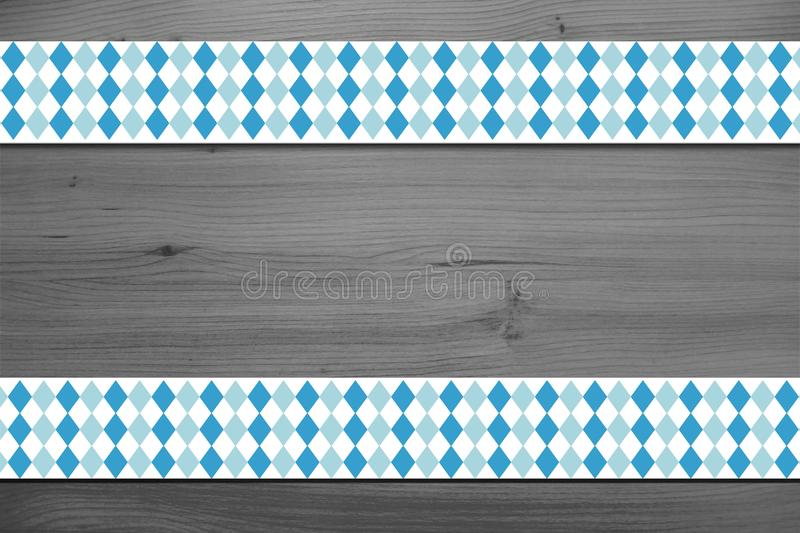 Background design for the famous, traditional bavarian Oktoberfest. stock image