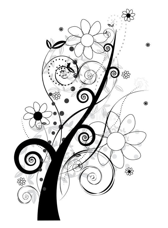 Design floral ilustração royalty free