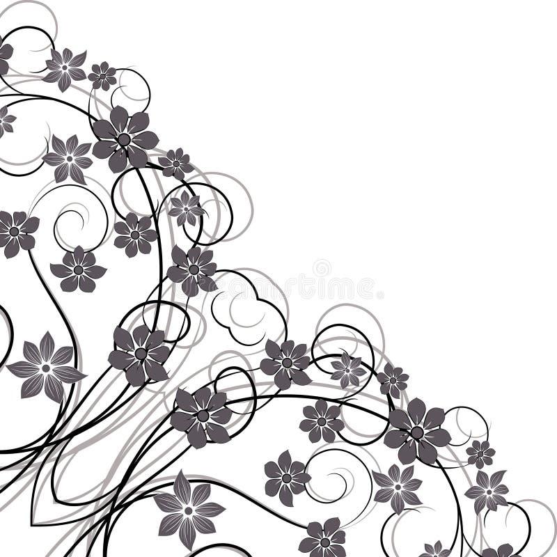 Design floral do vintage do ornamento. ilustração do vetor