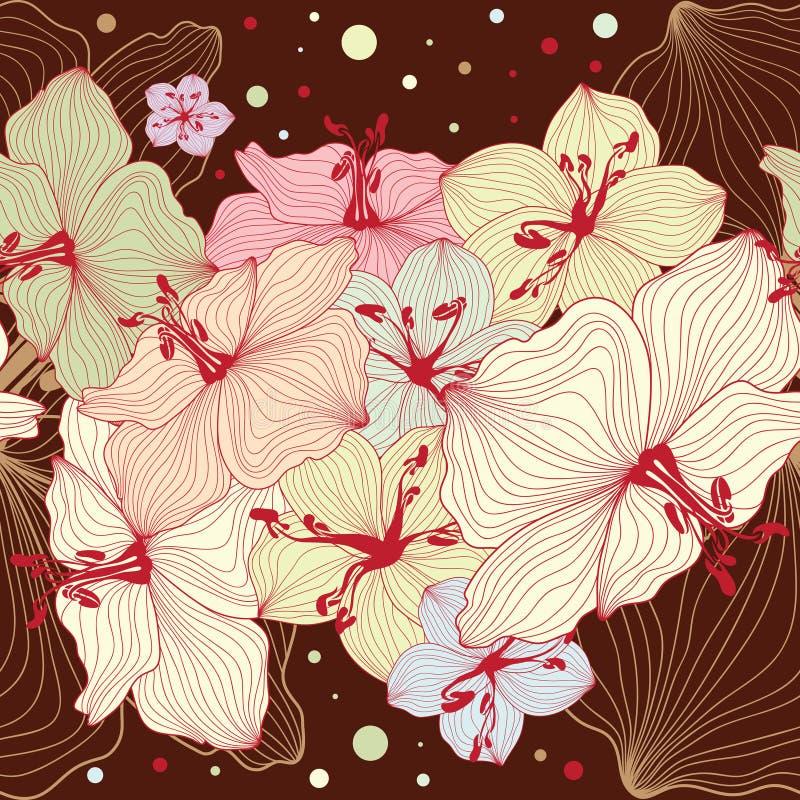 Design floral sem emenda ilustração royalty free