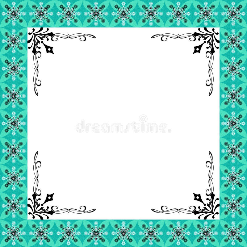 The Design Framework Luxury Green Floral royalty free stock photography