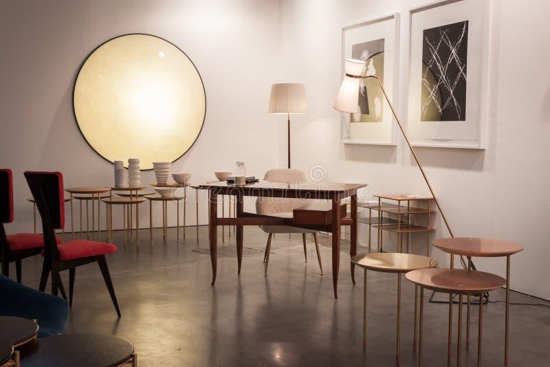 Design furniture at Miart 2014 in Milan, Italy stock photo