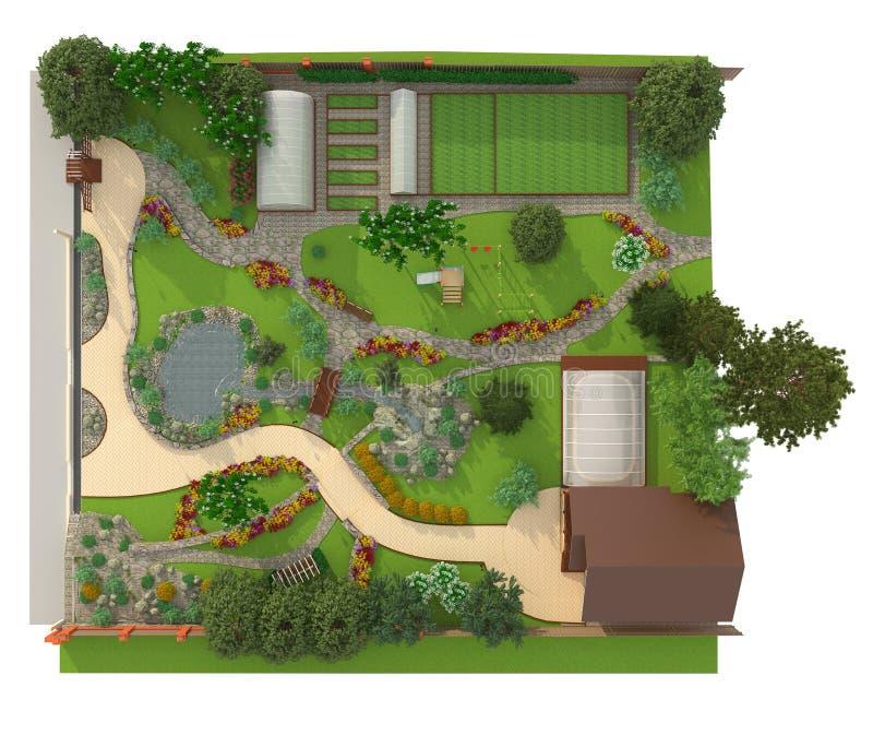 Design a garden plot stock photo