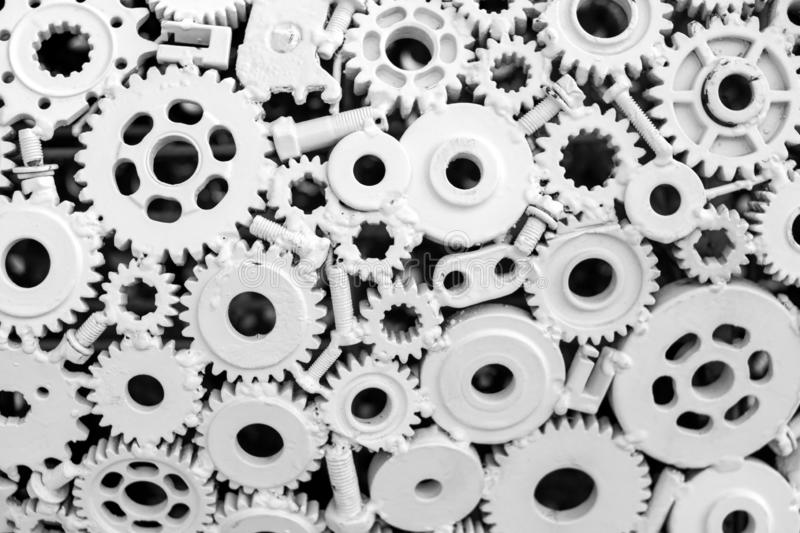 Design of Gear wheel metal pattern and background royalty free stock photo