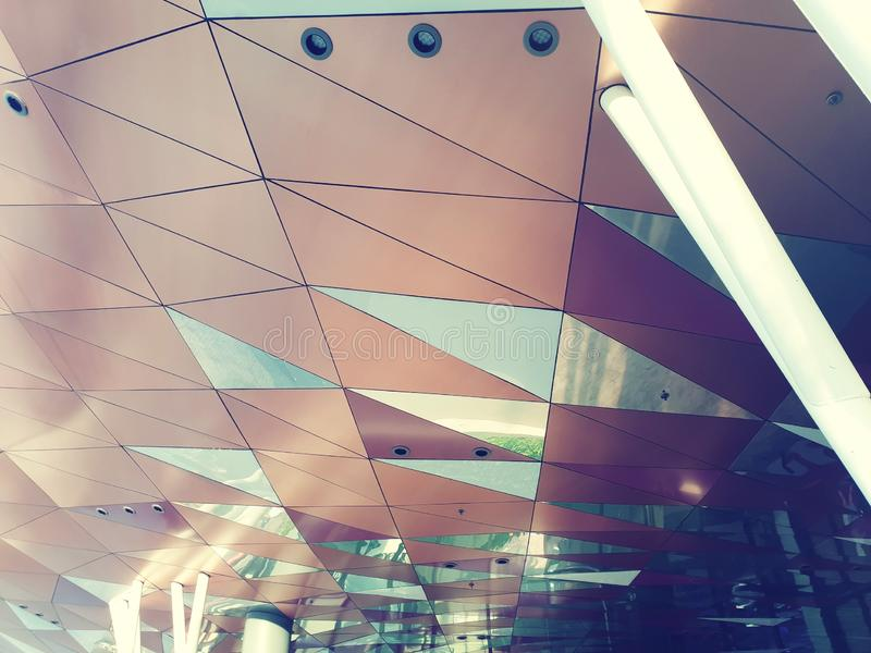 Design a geometric architecture. Celling, art, line stock photos