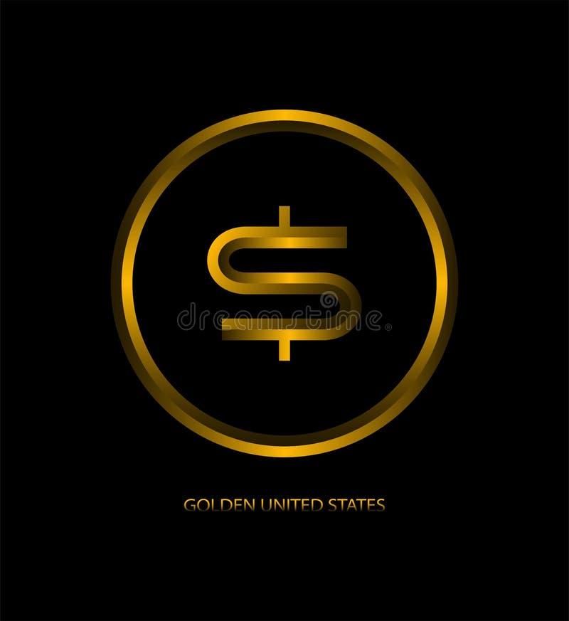Design gold coin dollar royalty free illustration