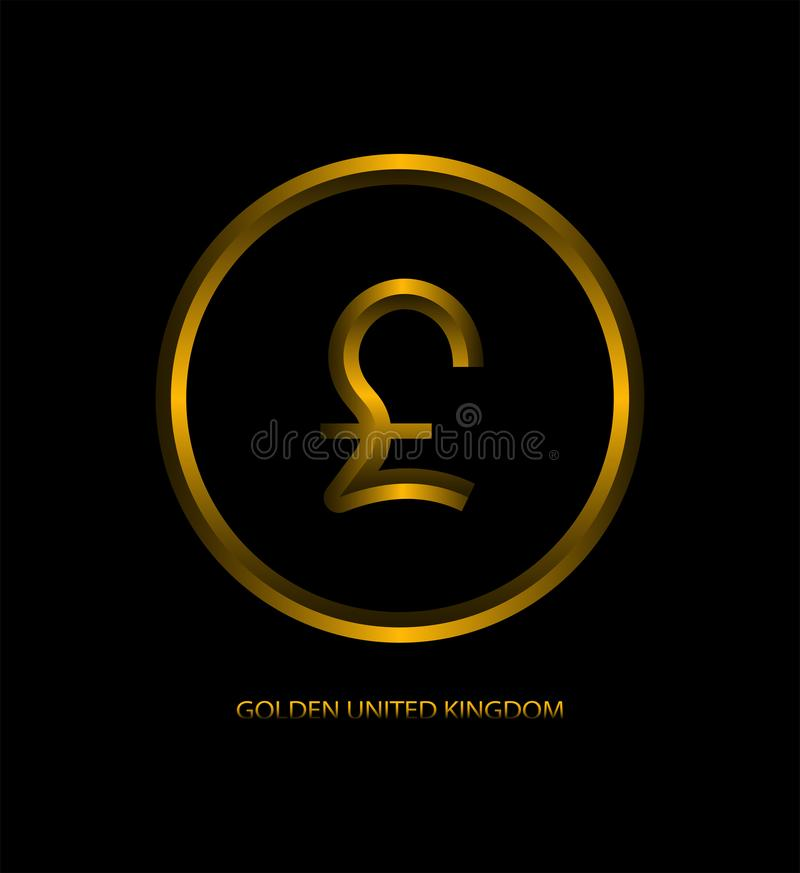 Design gold coin pound royalty free illustration