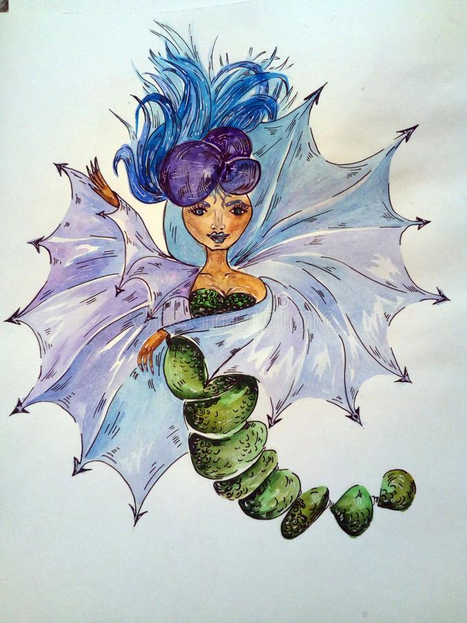design gräsplan, färg, blad, blått, natur, garnering, modell, blommor, kvinna royaltyfri illustrationer