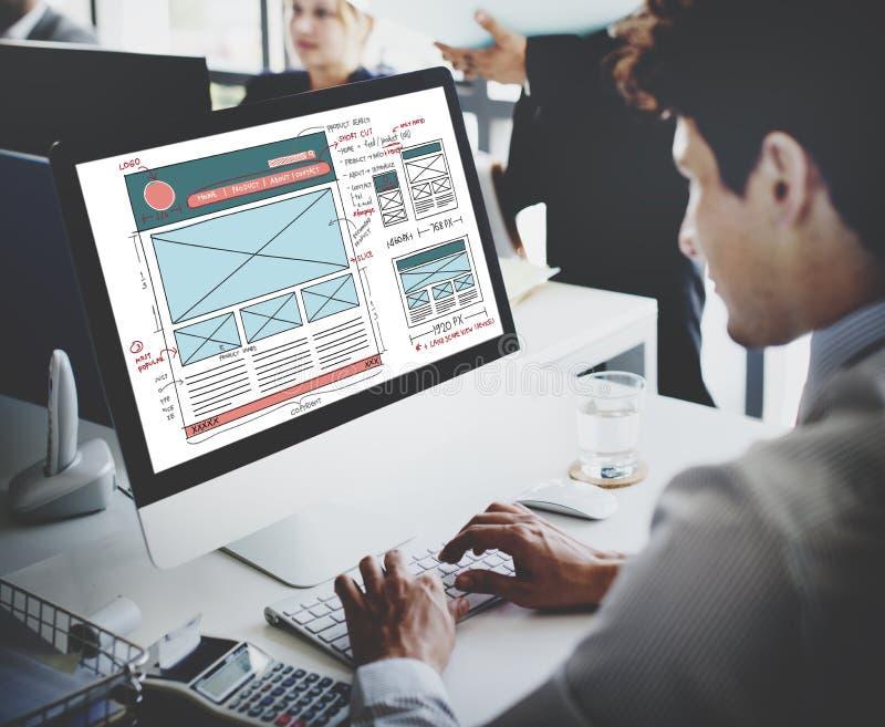 Design Graphic Framework Form Sketch Concept royalty free stock image