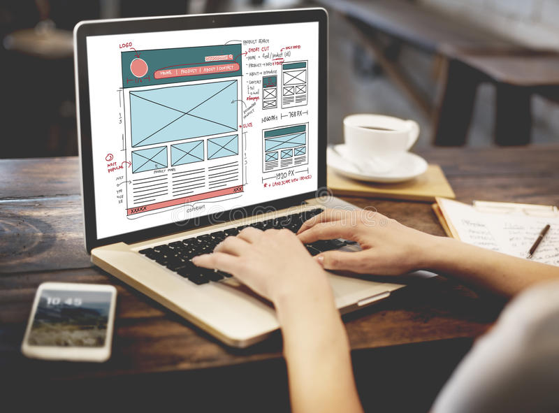 Design Graphic Framework Form Sketch Concept. Design Graphic Framework Form Sketch royalty free stock photography