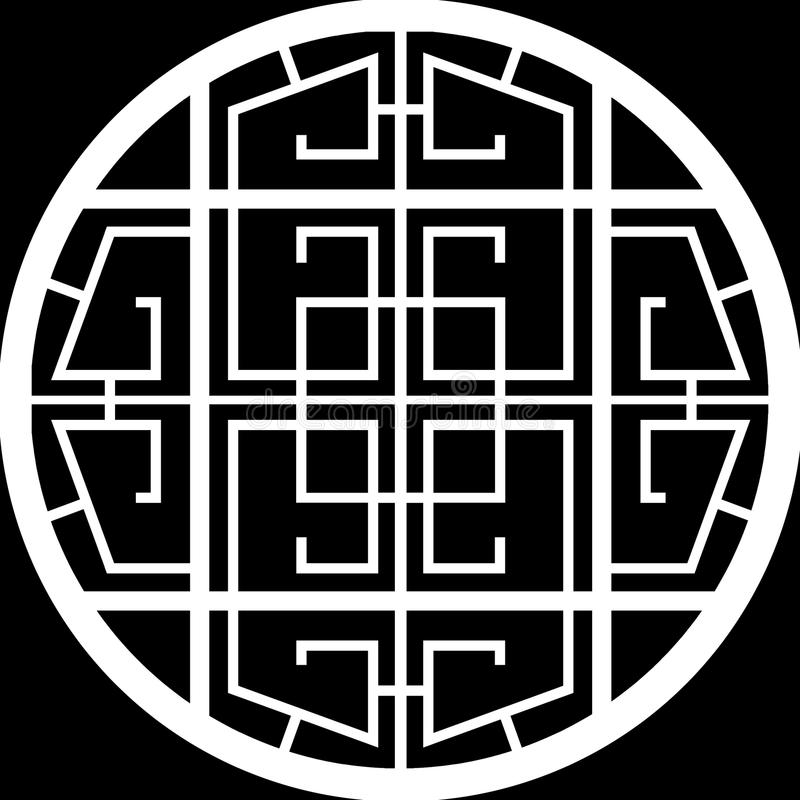 Design Of A Grid Circle Window Stock Image