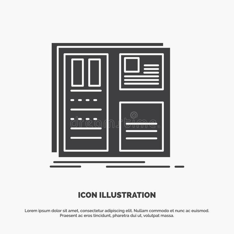 Design, grid, interface, layout, ui Icon. glyph vector gray symbol for UI and UX, website or mobile application. Vector EPS10 Abstract Template background royalty free illustration