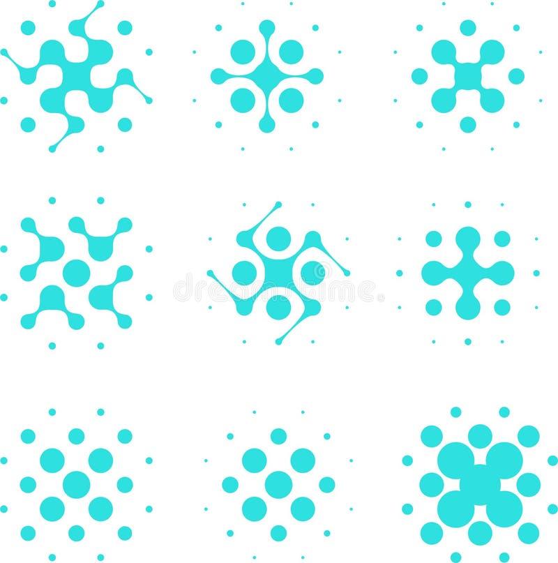 design halftone circle cell element stock vector image. Black Bedroom Furniture Sets. Home Design Ideas