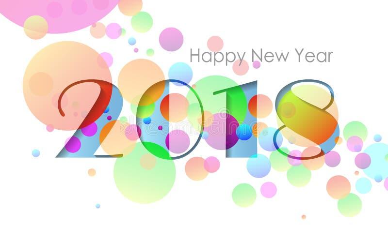 Design happy new year 2018 greeting card. Vector illustration royalty free illustration