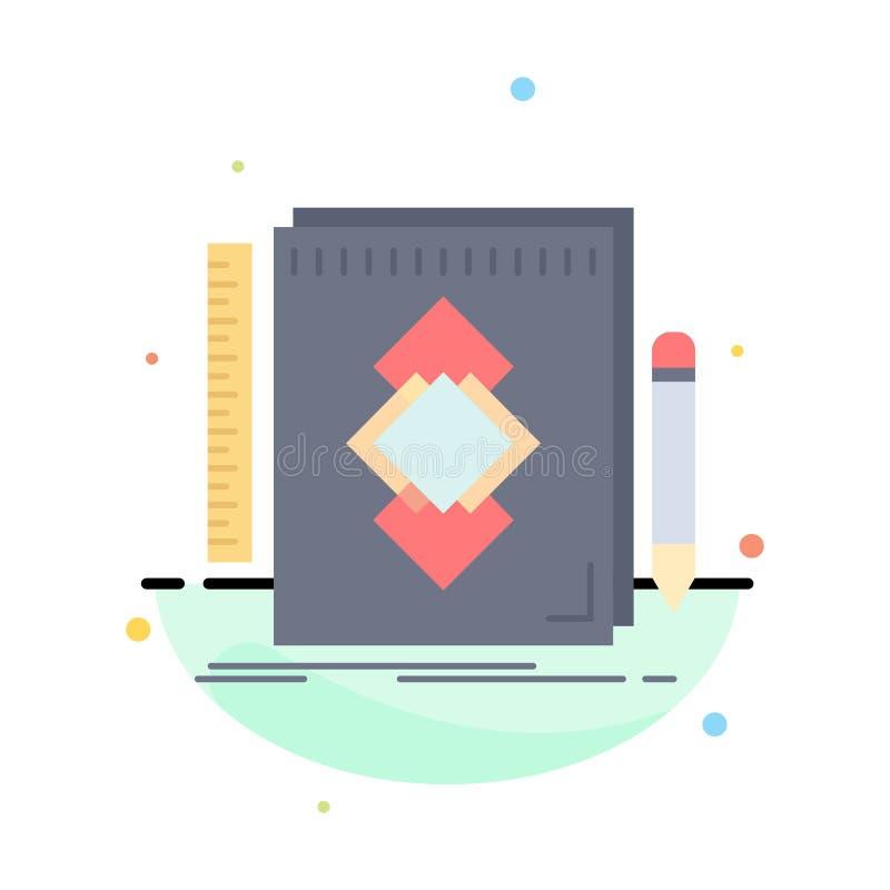 design hjälpmedel, identitet, attraktion, för färgsymbol för utveckling plan vektor royaltyfri illustrationer