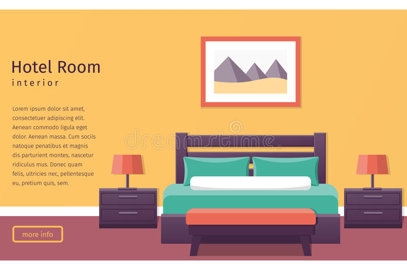 Design hotel room vector background stock vector for Apartment design vector
