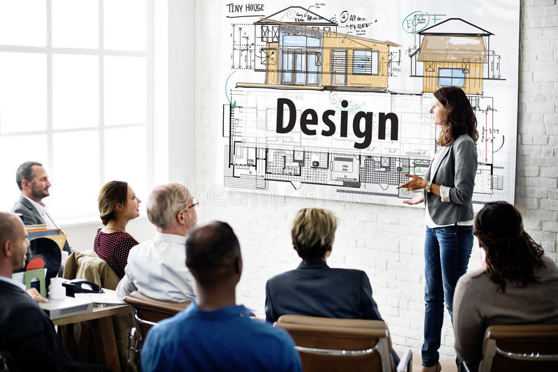 Design Housing Construction Blueprint Interior Concept stock photo