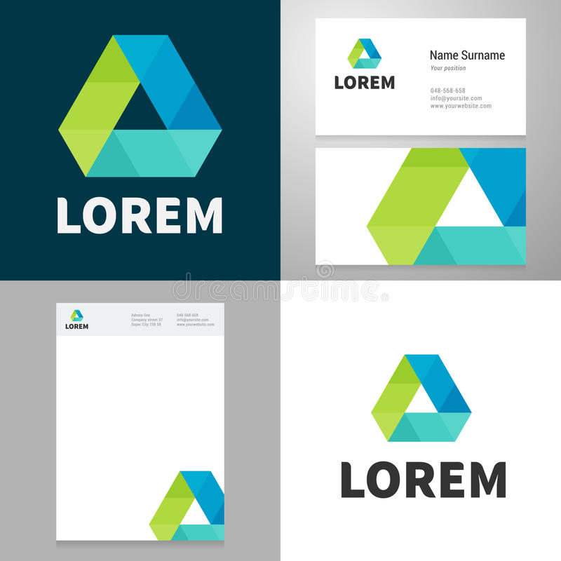 Design icon elemnet vith Business card and paper template stock illustration