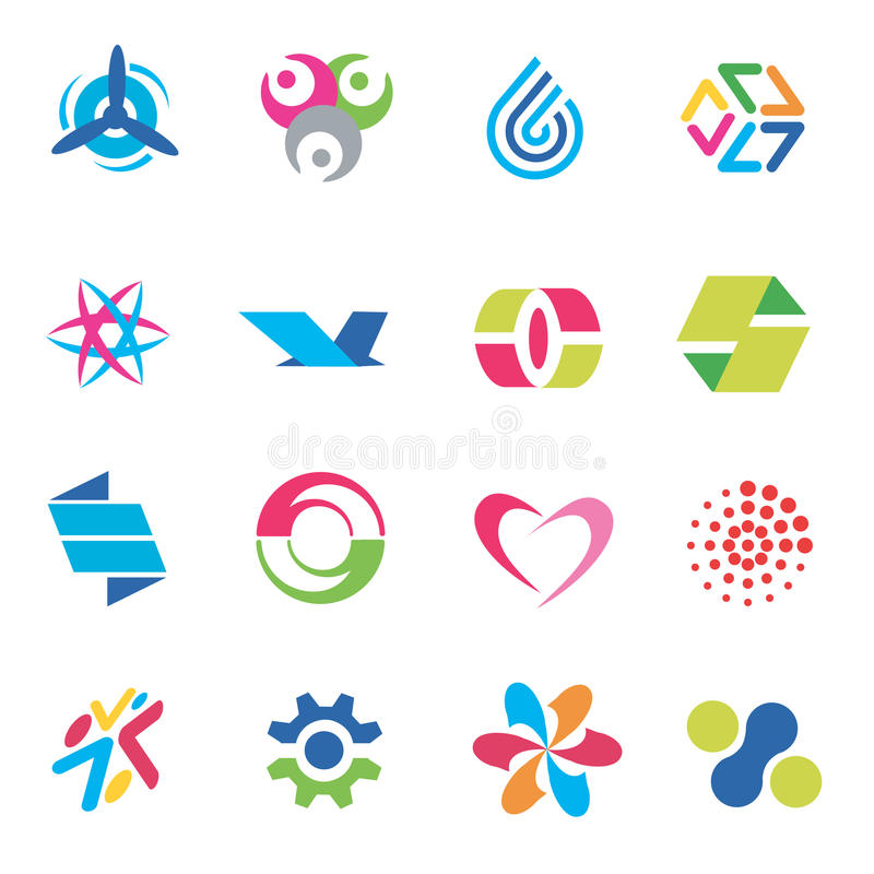 Design_icons_symbols royalty-vrije illustratie