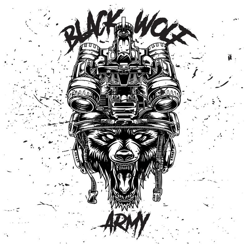 Free Design Illustration Black Wolf Army Stock Images - 212557854